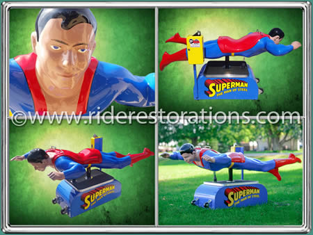 Superman coin operated ride