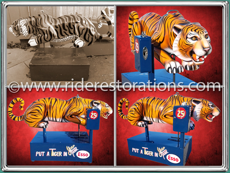 Tiger Coin Operated Kiddie Ride