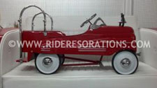 Antique pedal car fire truck restoration